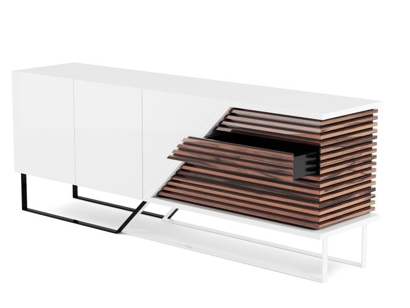 Aparador de dise�o en acabado madera y lacado. Mod: AJACCIO