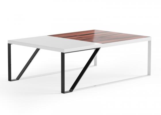 Mesa de centro de diseño en madera y metal. Mod: AJACCIO