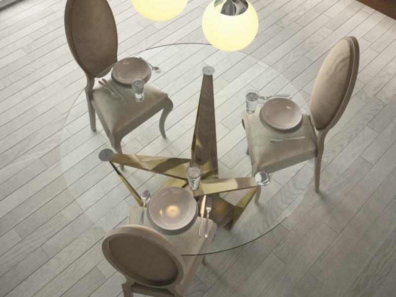 Mesa redonda tapa de cristal.Mod: DIMA GLASS