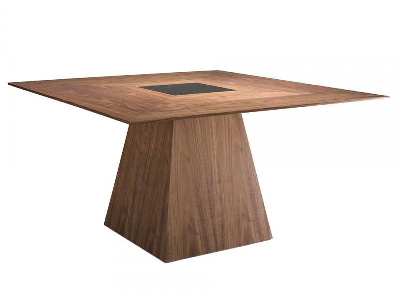 Mesa comedor cuadrada  en nogal. Mod: CASCAES