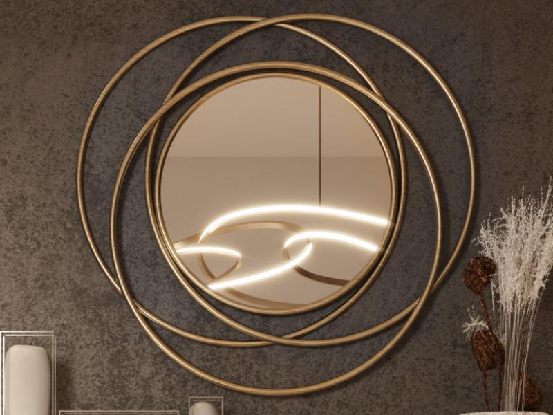 Espejo circular met�lico. Mod: COURBES