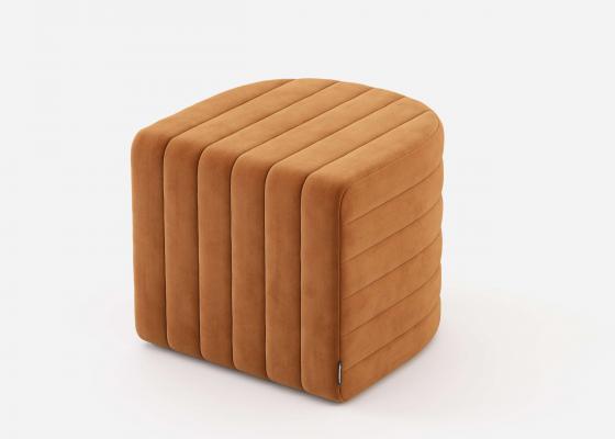 Pouff tapizado. Mod: CURBE