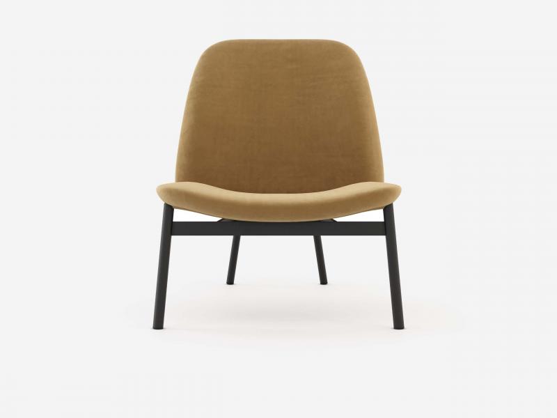 Sill�n de dise�o tapizado con estructura en acero . Mod: CLAUDE